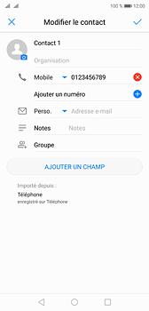 Huawei P20 - Contact, Appels, SMS/MMS - Ajouter un contact - Étape 8