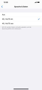 Apple iPhone XS Max - iOS 13 - Netzwerk - So aktivieren Sie eine 4G-Verbindung - Schritt 7