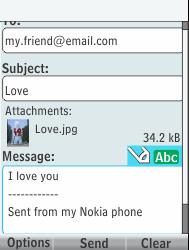 Nokia 301-1 - E-mail - Sending emails - Step 17
