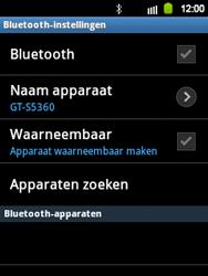 Samsung S5360 Galaxy Y - Bluetooth - headset, carkit verbinding - Stap 6