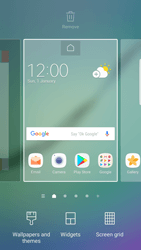 Samsung Galaxy S6 Edge - Android Nougat - Getting started - Installing widgets and applications on your start screen - Step 3