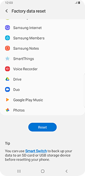 Samsung Galaxy Note9 - Android Pie - Mobile phone - Resetting to factory settings - Step 7