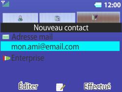 Bouygues Telecom Bc 311 - Contact, Appels, SMS/MMS - Ajouter un contact - Étape 15