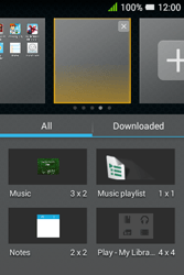 Alcatel Pixi 3 (3.5) - Getting started - installing widgets and applications on your start screen - Step 6