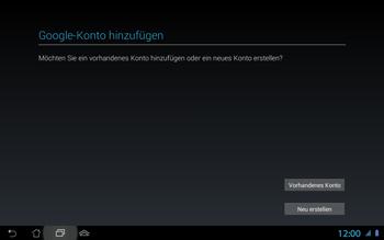 Asus Padfone 2 - Apps - Konto anlegen und einrichten - Schritt 5