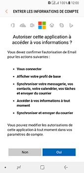 Samsung Galaxy A8 (2018) - E-mail - Configuration manuelle (outlook) - Étape 9