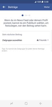 Samsung Galaxy S8 - Datenschutz und Sicherheit - Datenschutzeinstellungen von Facebook ändern - 1 / 1