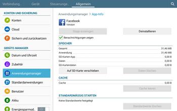 Samsung T535 Galaxy Tab 4 10.1 - Apps - Eine App deinstallieren - Schritt 7