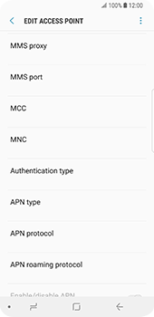 Samsung Galaxy S9 - MMS - Manual configuration - Step 10