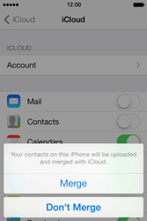 Apple iPhone 4S iOS 7 - Applications - Configuring the Apple iCloud Service - Step 6