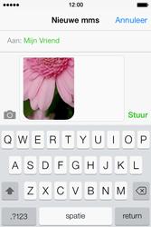Apple iPhone 4 S iOS 7 - MMS - Afbeeldingen verzenden - Stap 12
