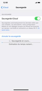 Apple iPhone XS - Données - créer une sauvegarde avec votre compte - Étape 13