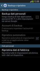 Samsung Galaxy S 4 Mini LTE - Dispositivo - Ripristino delle impostazioni originali - Fase 7