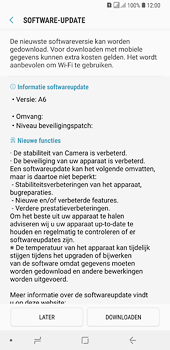 Samsung Galaxy A6 Plus - software - update installeren zonder pc - stap 7