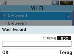 Samsung S3570 Chat 357 - wifi - handmatig instellen - stap 7