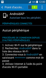 Samsung Galaxy Trend 2 Lite - Internet et connexion - Partager votre connexion en Wi-Fi - Étape 12