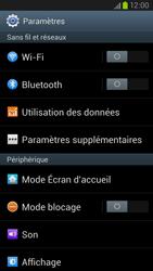 Samsung Galaxy S III LTE - Réseau - Sélection manuelle du réseau - Étape 4
