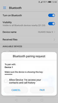 Huawei Mate 9 - Bluetooth - Connecting devices - Step 6