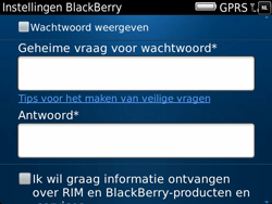 BlackBerry 9900 Bold Touch - BlackBerry activeren - BlackBerry ID activeren - Stap 10