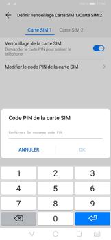 Huawei P30 Pro - Sécuriser votre mobile - Personnaliser le code PIN de votre carte SIM - Étape 13