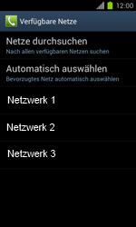 Samsung Galaxy S II - Netzwerk - Manuelle Netzwerkwahl - Schritt 9