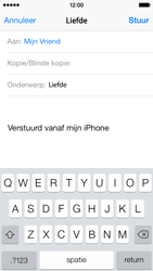 Apple iPhone 5 (iOS 8) - e-mail - hoe te versturen - stap 7