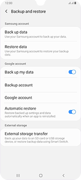Samsung Galaxy A70 - Data - Create a backup with your account - Step 7