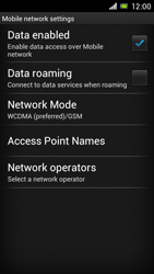 Sony Xperia J - Internet and data roaming - Disabling data roaming - Step 7