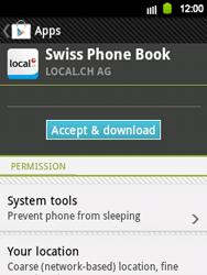 Samsung Galaxy Y - Applications - Installing applications - Step 8