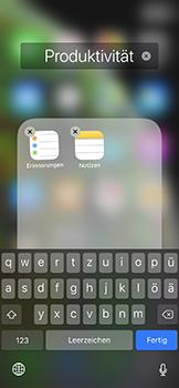 Apple iPhone XS - Startanleitung - Personalisieren der Startseite - Schritt 7