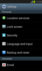 Samsung Galaxy S III Mini - Mobile phone - Resetting to factory settings - Step 4