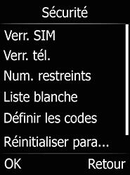 Doro 6520 - Sécuriser votre mobile - Personnaliser le code PIN de votre carte SIM - Étape 5