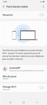 Samsung Galaxy A70 - Internet et connexion - Partager votre connexion en Wi-Fi - Étape 7