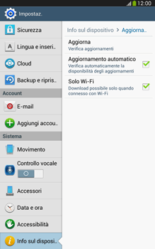Samsung Galaxy Tab 3 8-0 LTE - Software - Installazione degli aggiornamenti software - Fase 7