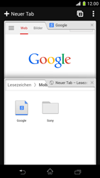 Sony Xperia Z1 Compact - Internet und Datenroaming - Verwenden des Internets - Schritt 18