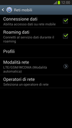 Samsung Galaxy S III LTE - Internet e roaming dati - Disattivazione del roaming dati - Fase 6