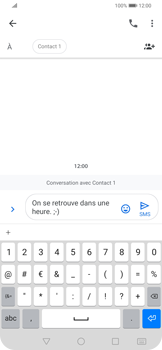 Huawei P Smart Z - Contact, Appels, SMS/MMS - Envoyer un SMS - Étape 8