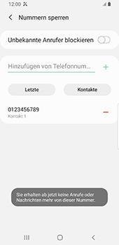 Samsung Galaxy S9 - Android Pie - Anrufe - Anrufe blockieren - Schritt 11