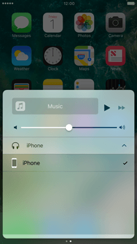 Apple Apple iPhone 6s Plus iOS 10 - iOS features - Control Centre - Step 12