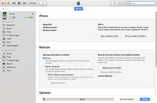 Apple iPhone 3GS - Software - Sicherungskopie Ihrer Daten erstellen - 1 / 1