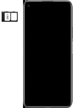 Huawei P40 Lite 5G - Premiers pas - Insérer la carte SIM - Étape 4