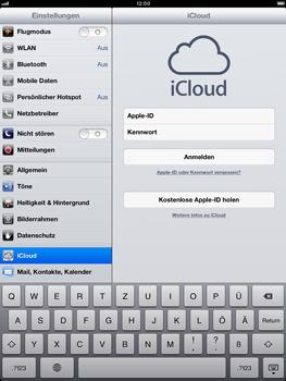 Apple iPad Retina iOS 7 - Apps - Konfigurieren des Apple iCloud-Dienstes - Schritt 5