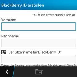 BlackBerry Q5 - Apps - Konto anlegen und einrichten - 8 / 15
