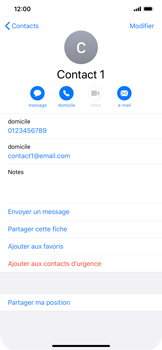 Apple iPhone 11 - Contact, Appels, SMS/MMS - Ajouter un contact - Étape 11