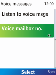Nokia X2-00 - Voicemail - Manual configuration - Step 6