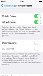 Apple iPhone 5S mit iOS 8 - Netzwerk - Netzwerkeinstellungen ändern - Schritt 4