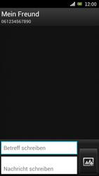 Sony Ericsson Xperia Ray mit OS 4 ICS - MMS - Erstellen und senden - 0 / 0