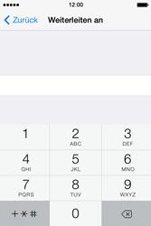 Apple iPhone 4 S mit iOS 7 - Anrufe - Rufumleitungen setzen und löschen - Schritt 6
