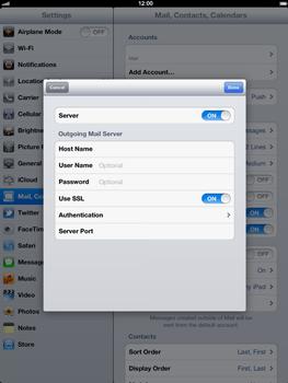 Apple The New iPad - E-mail - Manual configuration - Step 17