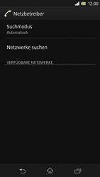 Sony Xperia Z - Netzwerk - Manuelle Netzwerkwahl - Schritt 7